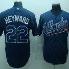 Jason Heyward #22 Blue Atlanta Braves Men's Jersey