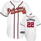 Jason Heyward #22 White Atlanta Braves Men's Jersey