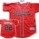 Jason Heyward #22 Red Atlanta Braves Men's Jersey