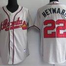 Jason Heyward #22 Grey Atlanta Braves Men's Jersey