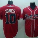 Chipper Jones #10 Red Atlanta Braves Men's Jersey