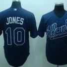 Chipper Jones #10 Blue Atlanta Braves Men's Jersey