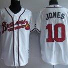 Chipper Jones #10 White Atlanta Braves Men's Jersey