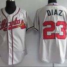 Matt Diaz #23 Grey Atlanta Braves Men's Jersey