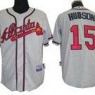 Tim Hudson #15 Grey Atlanta Braves Men's Jersey
