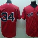 David Ortiz #34 Red Boston Red Sox Men's Jersey
