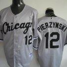 A.J. Pierzynski #12 Grey Chicago White Sox Men's Jersey