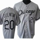 Carlos Quentin #20 Grey Chicago White Sox Men's Jersey
