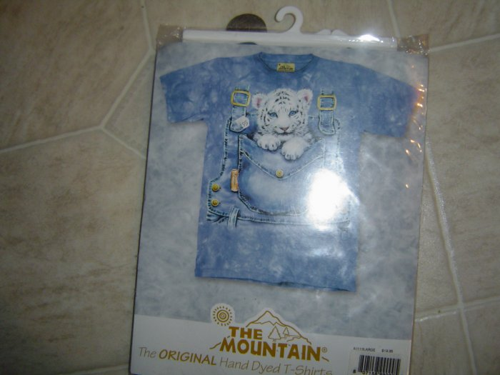 The Mountain Hand Dyed T-Shirt Blue White Lion Cub