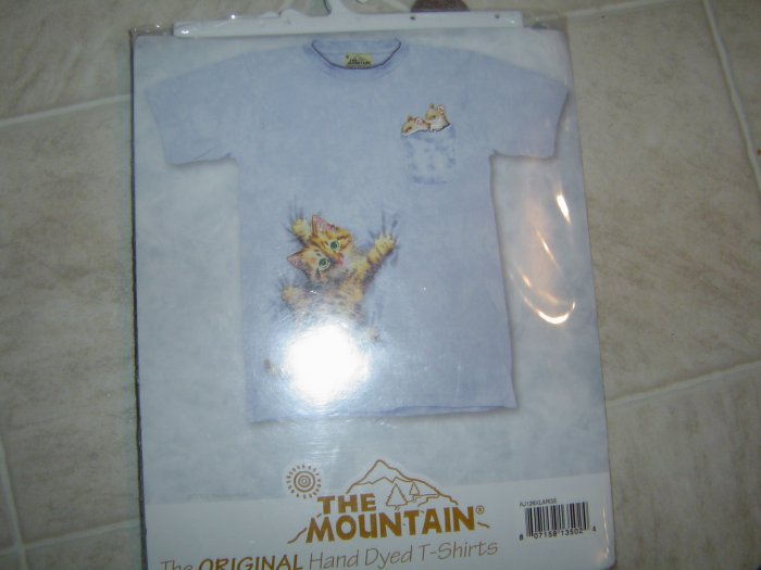 XL Original Hand Dyed T-Shirt Kitty & Mouse