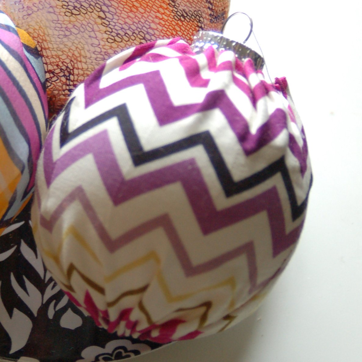 Missoni for Target fabric covered Christmas Ornament Passione Zig Zag