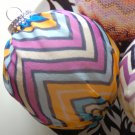 Blue & Purple silk chiffon covered Christmas Ornament Zig Zag Via Missoni Style