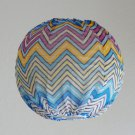 "9"" Silk Chiffon Covered paper lantern bubble lamp Zig Zag Via Missoni Style"