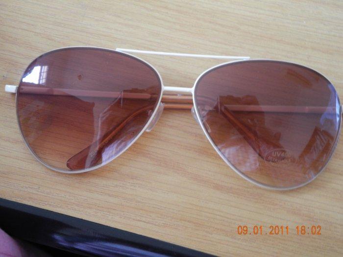Beige Triangular Sunglasses