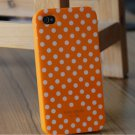 New kate spade case for iPhone 4 (Dull Orange/White Small Polka dots)