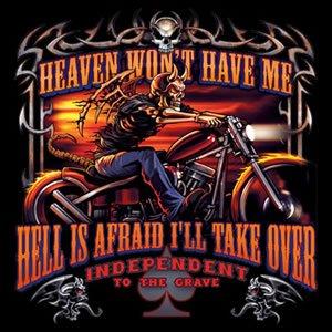 Demon Rider Biker Shirt size large
