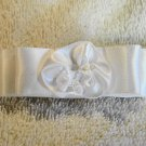 White Satin Dior Barrette New handmade