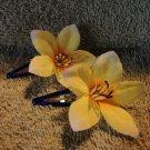 Clippies Handmade decor Yellow Jonquil pair New