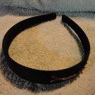 Headband Handmade Black with Gold bug trail New