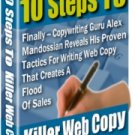 10 Steps To A Killer Web Copy