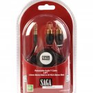 aboutSAGA 2.6ft Retractable 3.5mm Mini plug to 2 RCA plugs-retail pack