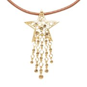 Swarovski Crystal Necklace Pendant - Stellar (Gold)