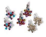 Swarovski Crystal Earrings : 'FLORA' Clasp