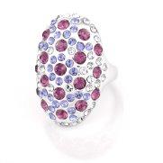 Swarovski Crystal Ring - Chantel (Violet)