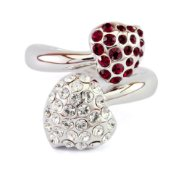 Swarovski Crystal Ring - Isemay (Red)
