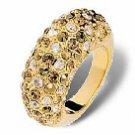 "Swarovski Crystal Ring ""CREOLE"" Gold"