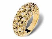 Swarovski Crystal Ring �CREOLE� Gold