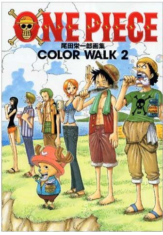 Color Walk  Vol.2 (One Piece Illustration) (Japanese Book�