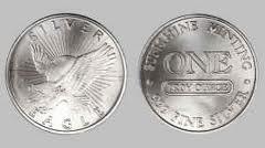 Sunshine Mining Silver Eagle Round, .999 Fine, 1 Oz.