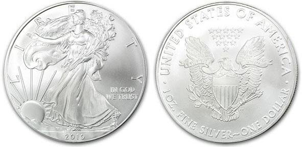 2010 American Eagle 1 Troy Oz. Silver Coin, .999 Fine
