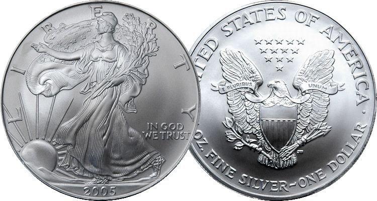 2005 American Eagle 1 Troy Oz. Silver Coin, .999 Fine