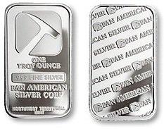 Pan American Silver Bullion Bar 1 Troy Oz