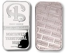 Northwest Territorial Mint Silver Bullion Bar 1 Troy Oz