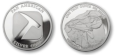 Pan American Silver Round (Northwest Territorial Mint), 1 Troy Oz.