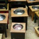 Extra large single bowl elevated dog feeder