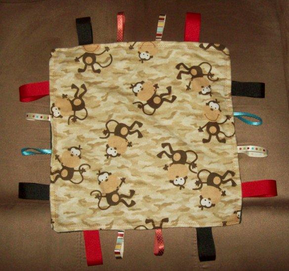 Little Monkey Tag Blanket - 12x12 size