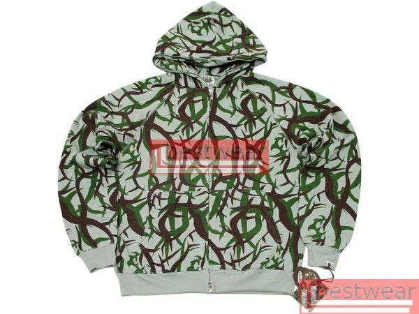 Beand New Bape A Bathing Ape Double-Zipper Hoodie BH07 Size XXL 2XL