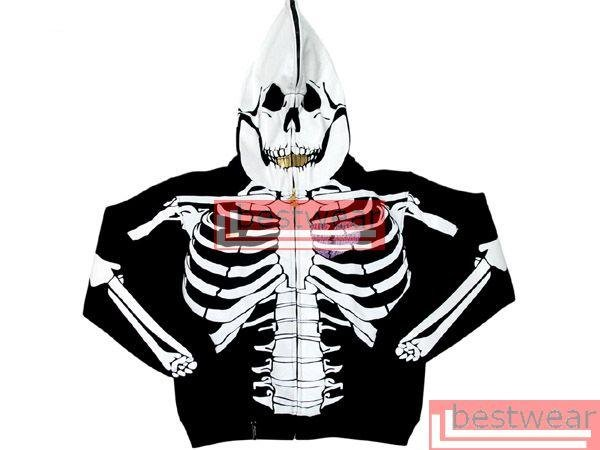 Brand New L.R.G. LRG Dead Serious Skeleton Hoodie LRGH01 Size XL