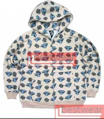 BBC Billionaire Boys Club Diamonds & Dollars Hoodie BBCH02 Size L
