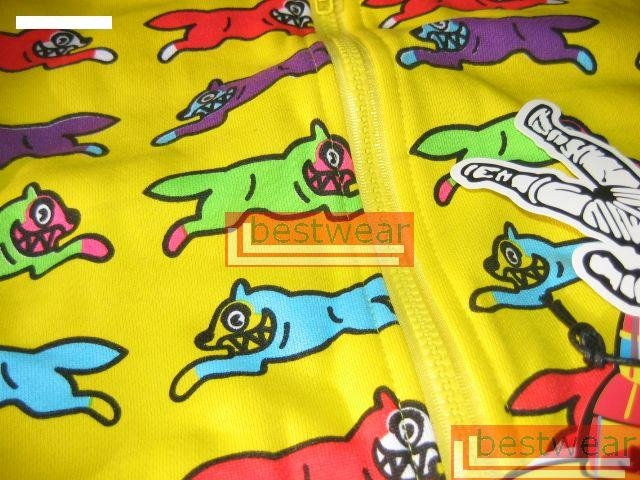 Brand New BBC Billionaire Boys Club Ice Cream Dog Full-Zip Hoodie BBCH01 Size L