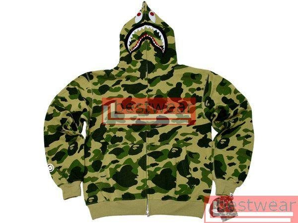 Brand New Bape Bathing Ape BAPESTA Shark Green Camo BH18 Size M