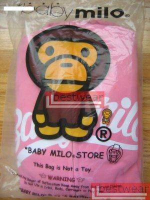 Brand New Bape A Bathing Ape Double-Zipper Hoodie Baby Milo BH24 Size L
