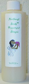 Northwest Scents Peppermint Shampoo For Dry, Curly, Color Treated, and Ethnic Hair 8 oz bottle