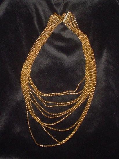 SOLD Avon Incandescence Gold Multi Strand Necklace