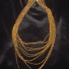 Avon Incandescence Gold Multi Strand Necklace