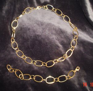 Large Link Chain Necklace & Bracelet by Avon
